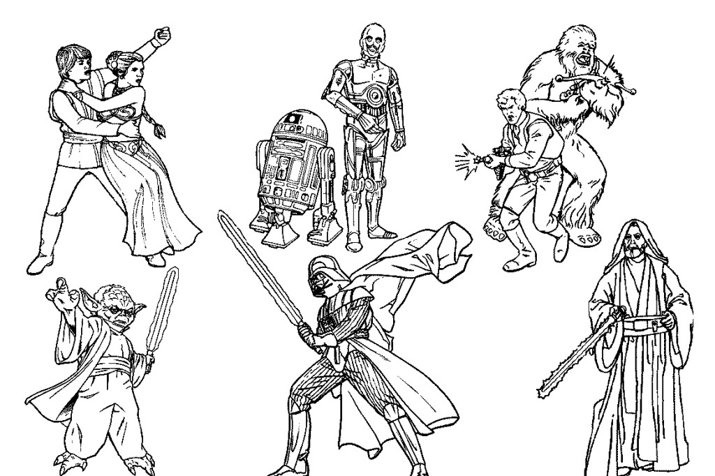 1024x682 Homey Idea Star Wars Printable Coloring Pages Hellokids Com