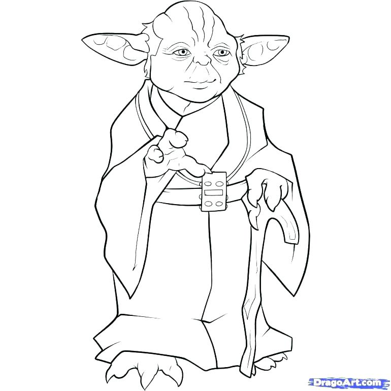 770x770 Star Wars Characters Coloring Sheets Free Pages Medium Size