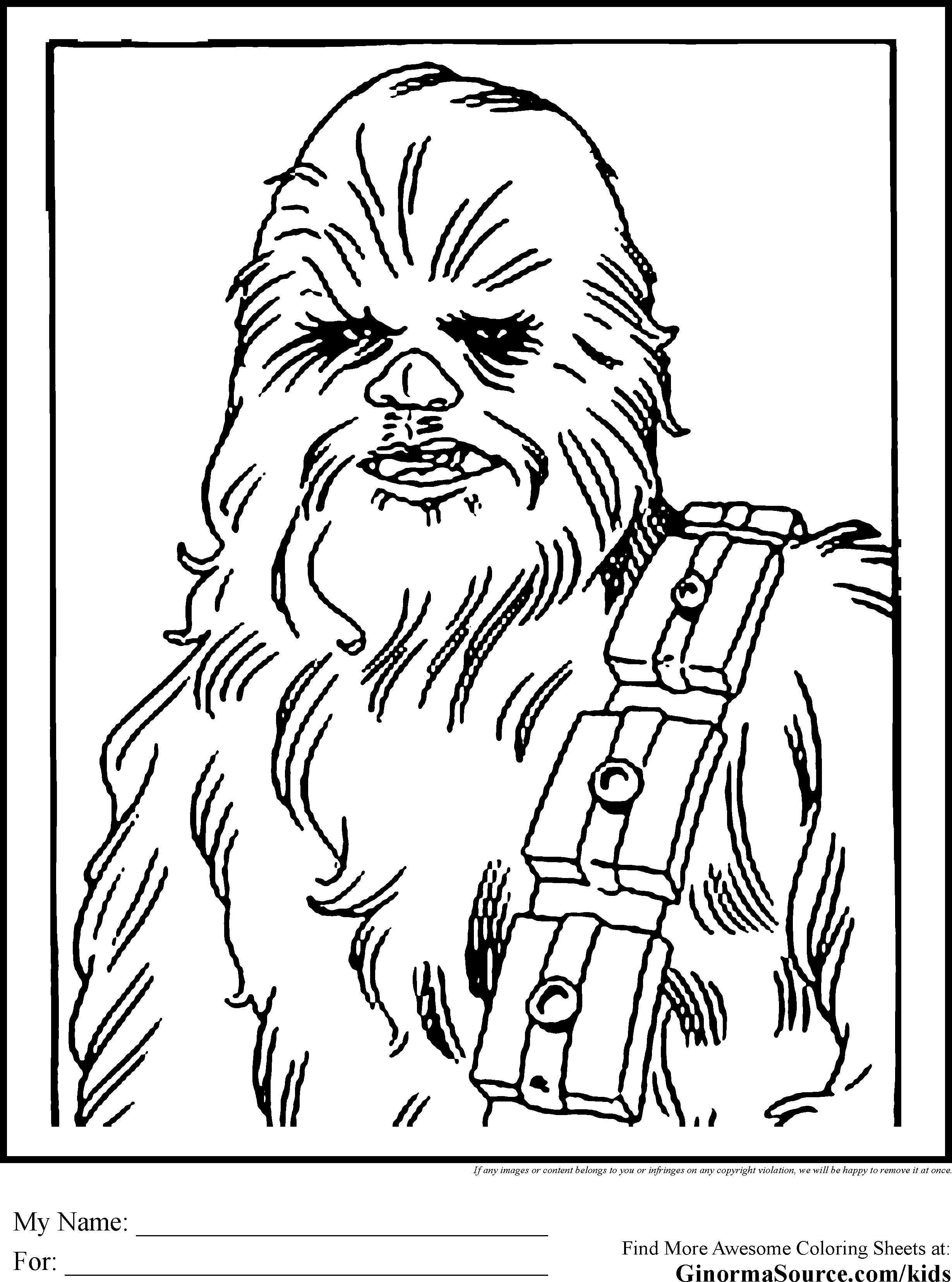 2459x3310 Star Wars Colouring Pages Chewbacca Wookie Coloring Pages