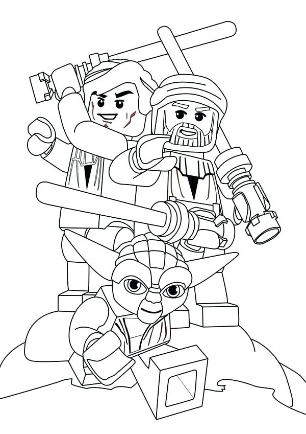 600x849 Star Wars Lego Coloring Page