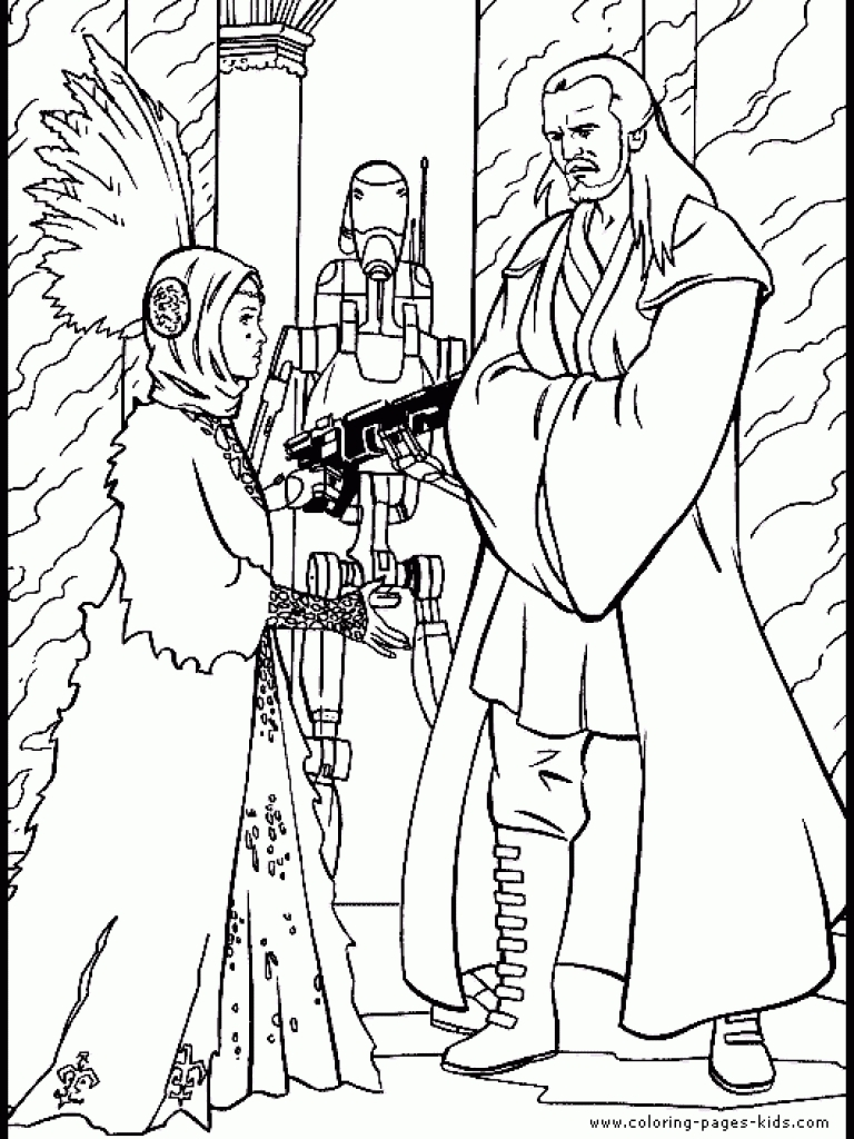 768x1024 Unique Star Wars Cartoon Characters Coloring Pages Collection