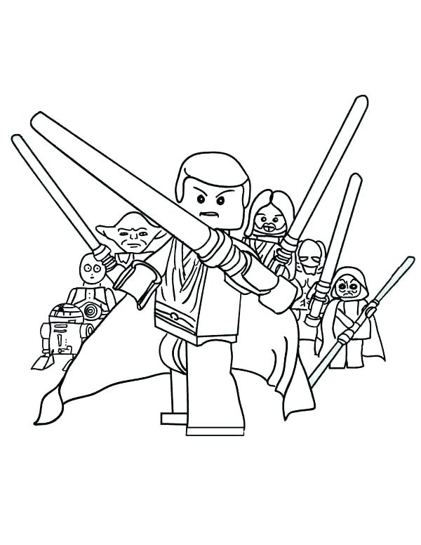 600x776 Coloring Lego Luke Skywalker Coloring Pages Outstanding Star Wars