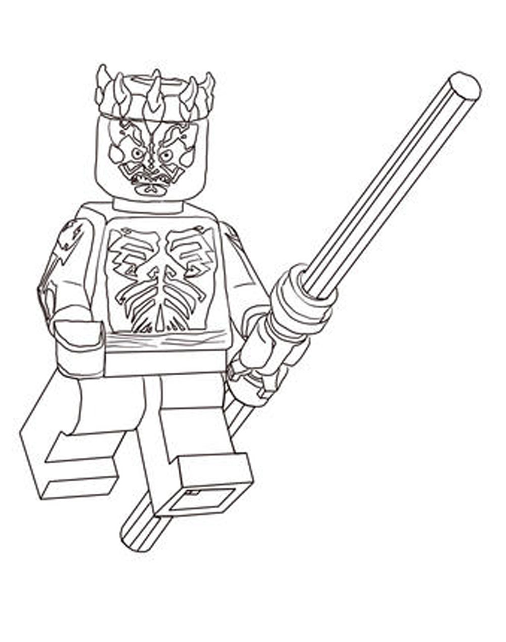 1000x1268 Lego Star Wars The Complete Saga Coloring Pages