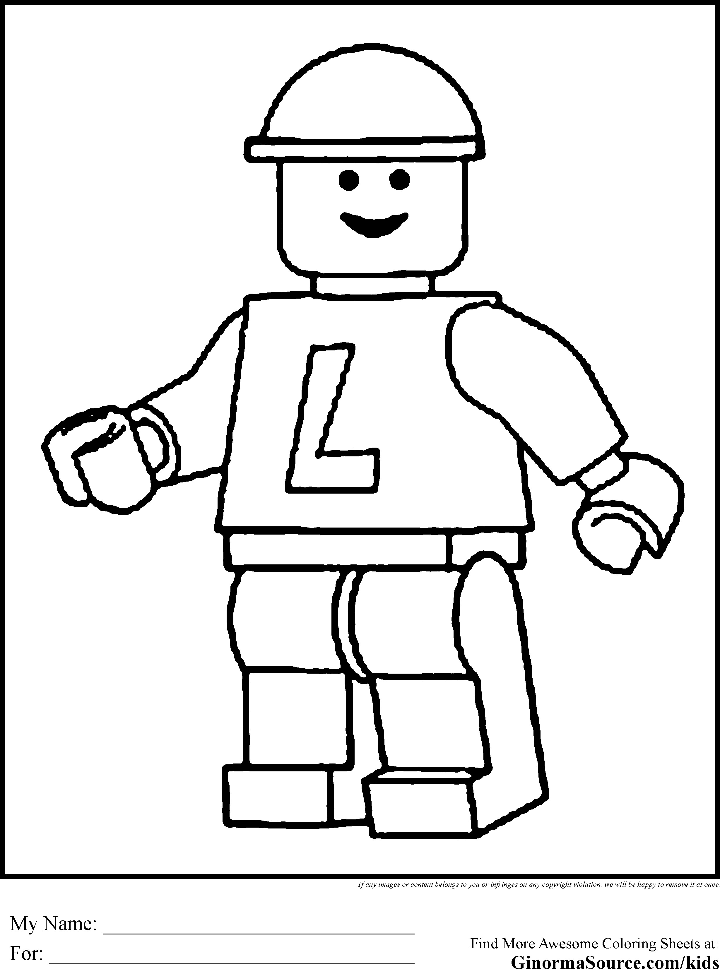 2459x3310 Better Lego Person Coloring Pages Download Sta