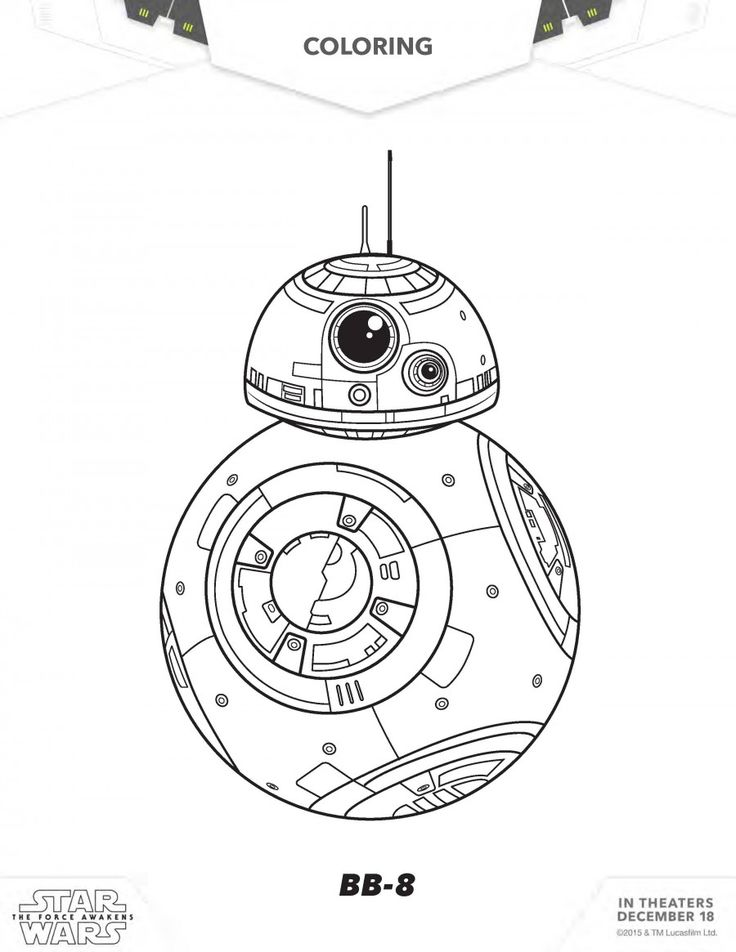 Star Wars Coloring Pages Bb8