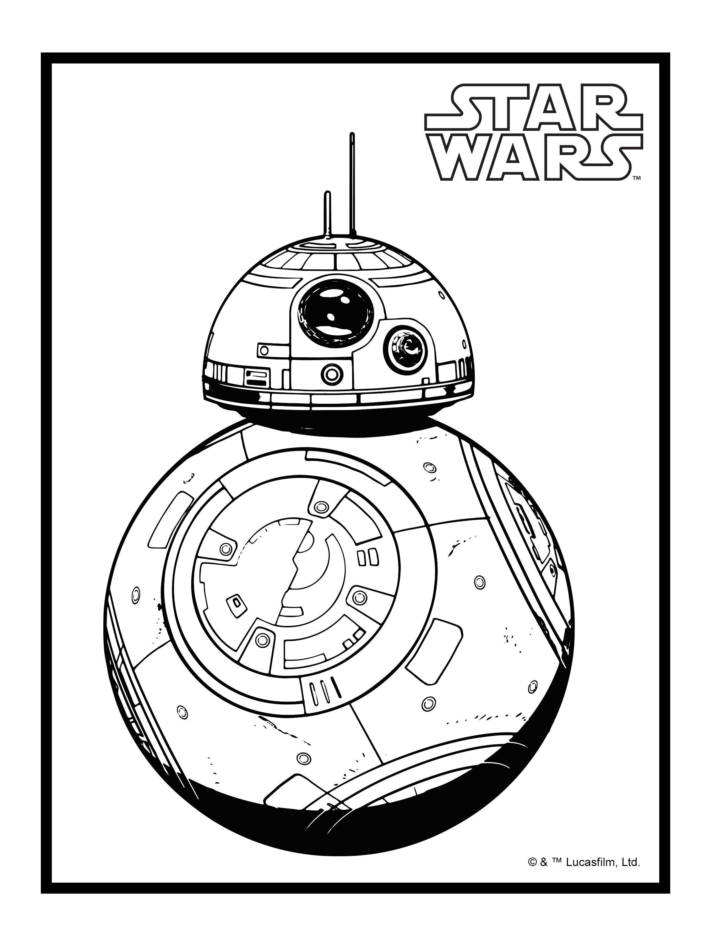 Star Wars Coloring Pages Bb8 At Getdrawings Com Free For Personal