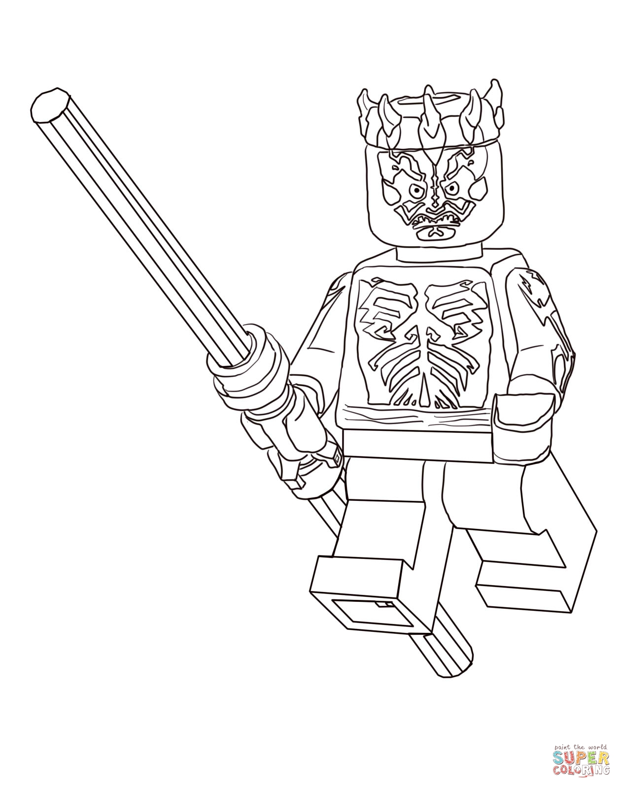 1260x1600 Lego Star Wars Coloring Pages Darth Maul Download Coloring