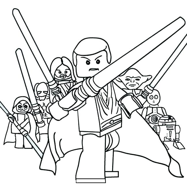 650x666 Lego Star Wars Yoda Chronicles Coloring Pages Stars Wars Coloring