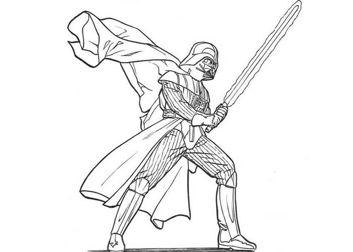 700x500 Star Wars Darth Vader Coloring Pages