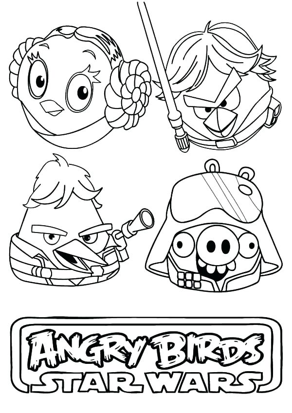 600x849 Stars Wars Coloring Pages Awesome Angry Bird Star Wars Coloring