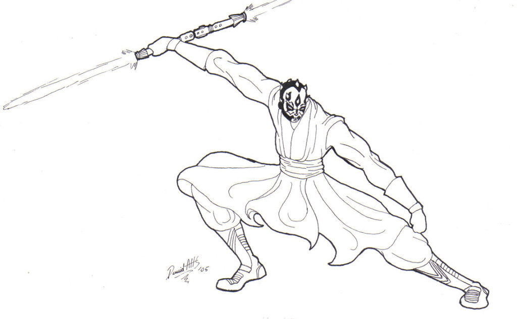 1024x633 Darth Maul Coloring Page Maul Coloring Pages Ideas
