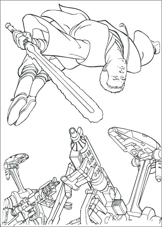567x794 Darth Maul Coloring Pages