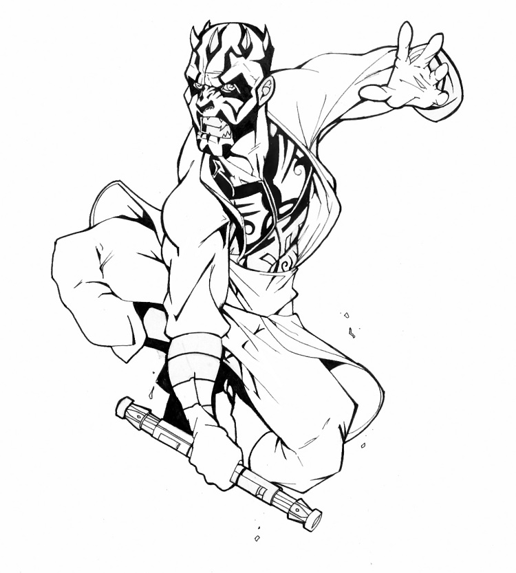 750x833 Star Wars Coloring Pages Of Darth Maul