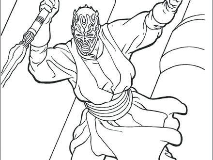 440x330 Darth Maul Coloring Pages Maul Star Wars Coloring Pages Color