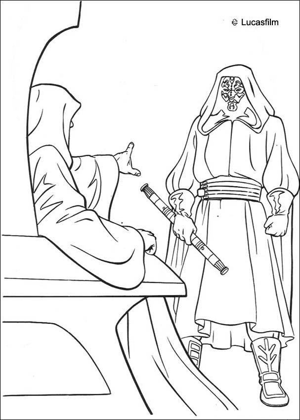 607x850 Darth Maul And Emperor Coloring Pages