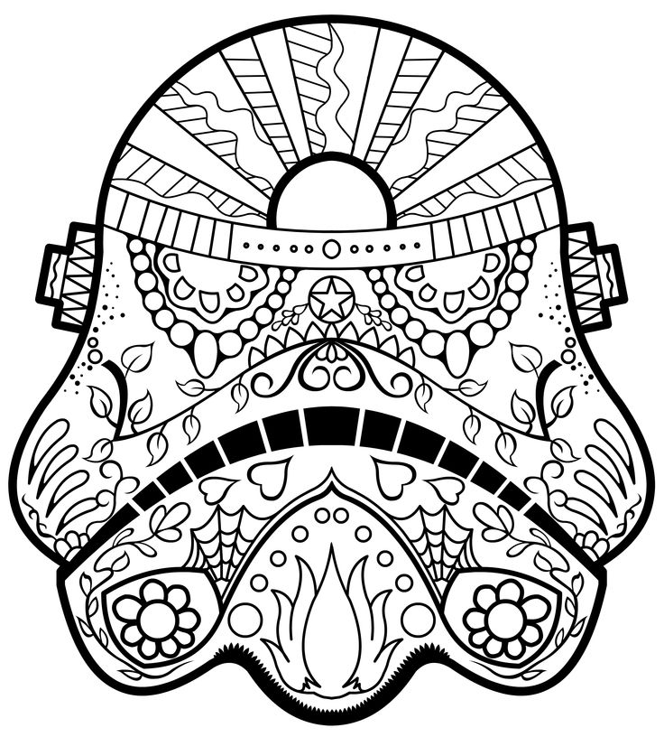 736x816 Day Of The Dead Star Wars Coloring Pages