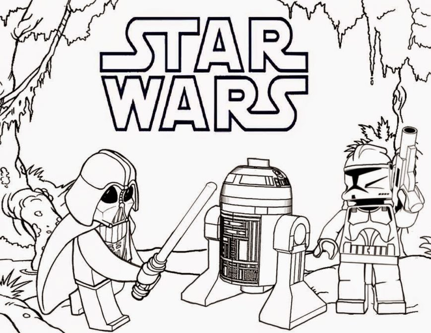 869x672 Free Printable Star Wars Coloring Pages