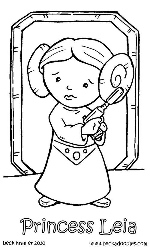 500x827 Princess Leia Coloring Pages For Kids