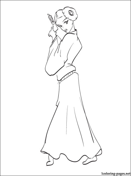 560x750 Star Wars Leia Coloring Page Coloring Pages