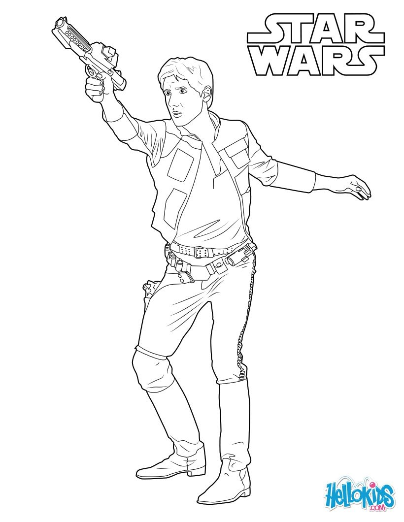 820x1060 Coloring Pages Han Solo And Chewbacca Star Wars Page
