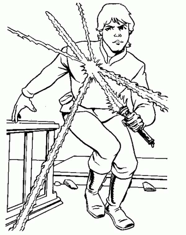 600x758 Luke Skywalker From Star Wars Coloring Page