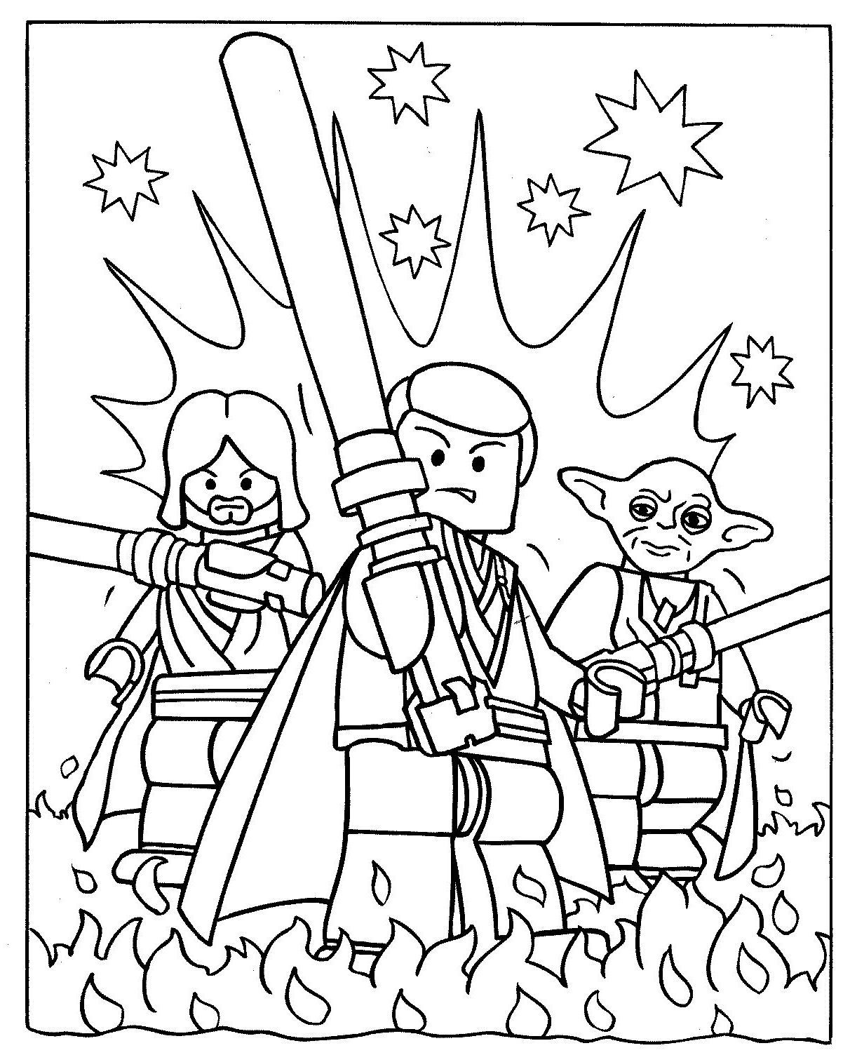 1212x1504 Obi Wan And Luke Skywalker With Yoda Coloring Pages Star Wars