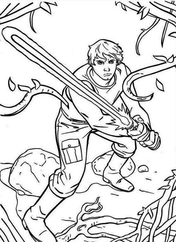 600x828 Star Wars Coloring Pages Luke The Great Luke Skywalker Stand