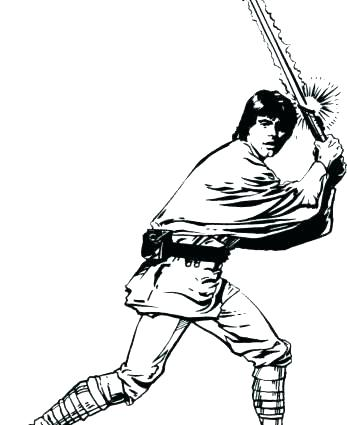 347x425 Luke Skywalker Coloring Page Star Wars Coloring Pages Coloring