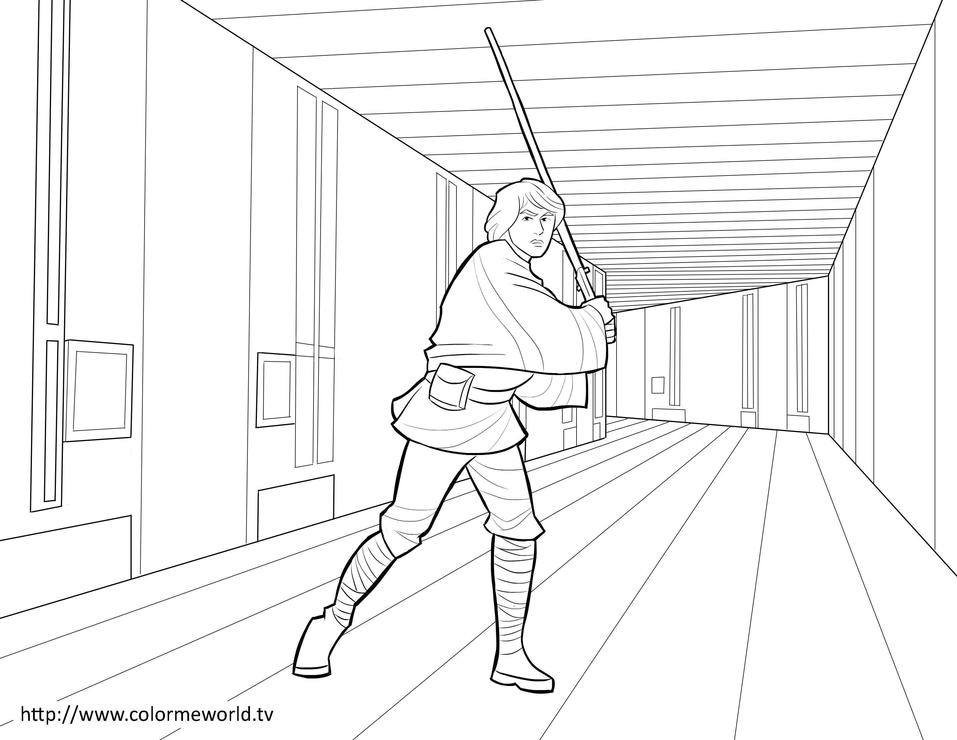 3300x2550 Luke Skywalker Pdf Printable Coloring Page