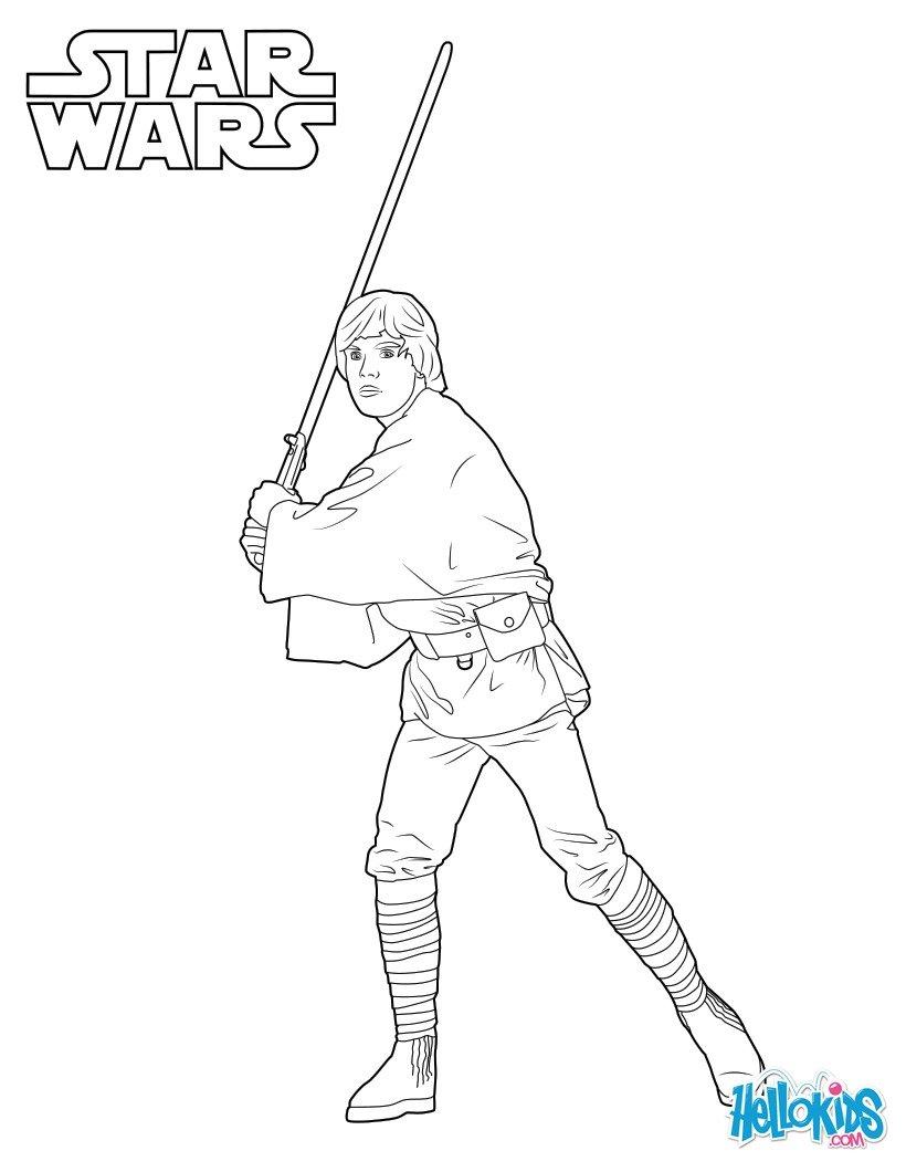 820x1060 Luke Skywalker Coloring Pages