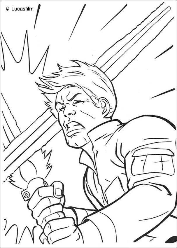 607x850 Luke Skywalker The Jedi Fight Coloring Pages