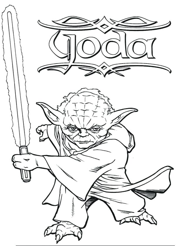 600x840 Star Wars Coloring Pages Master Swing Light Saber In Star Wars