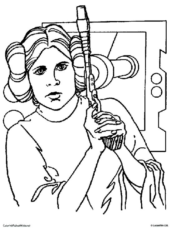 564x735 Princess Leia Coloring Pages For Kids