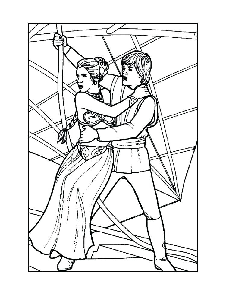 750x995 Princess Leia Coloring Pages Luke And Leia Coloring Pages Many