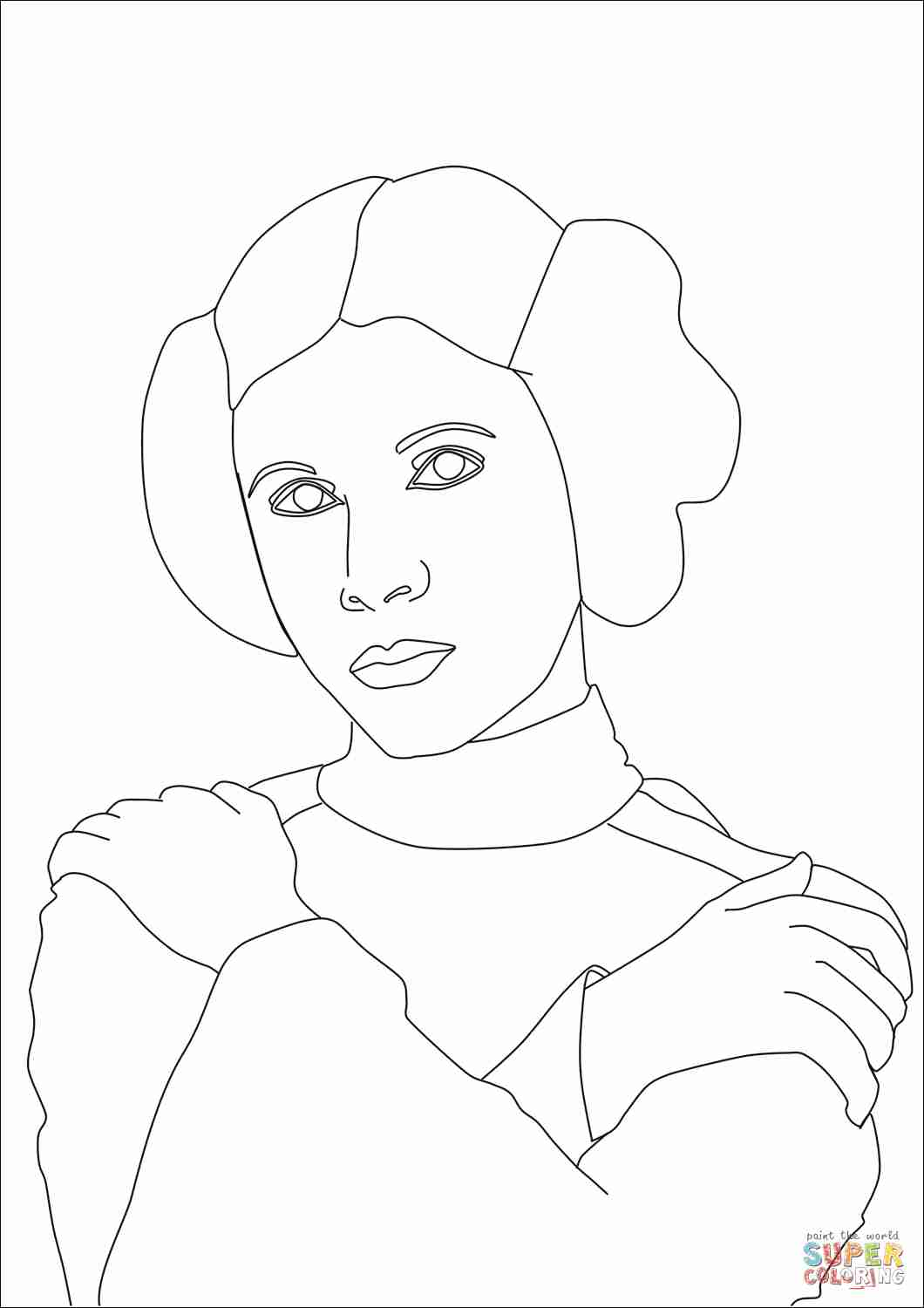 1060x1500 Star Wars Coloring Pages Princess Leia Pleasing Leah Olegratiy