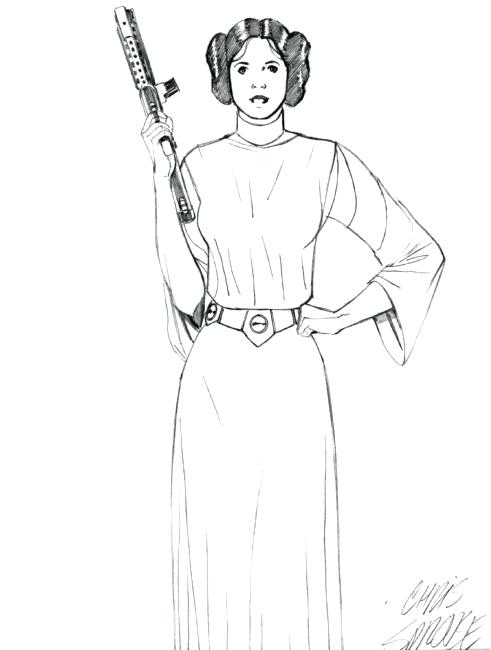 491x650 Cool Princess Leia Coloring Pages
