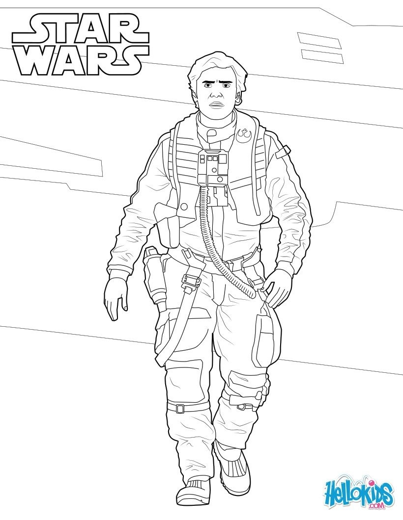 820x1060 Star Wars Coloring Pages The Force Awakens New Poe Dameron Star