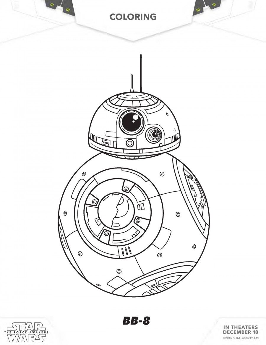 900x1165 Star Wars The Force Awakens Coloring And Activity Sheets