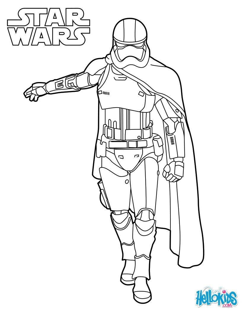 820x1060 Captain Phasma Coloring Sheet From New Star Wars Movie