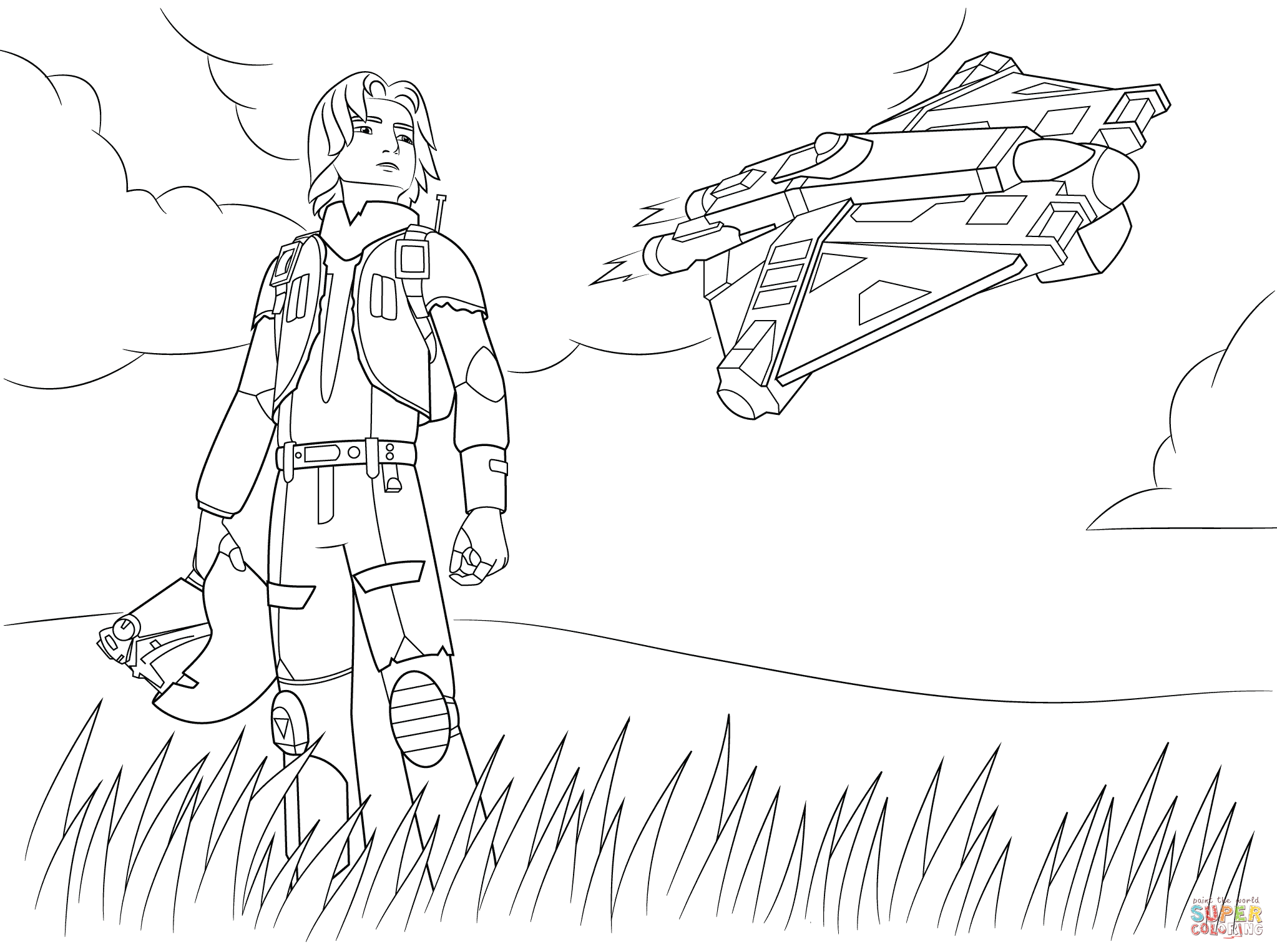 2046x1526 Free Printable Star Wars The Force Awakens Coloring Pages Copy