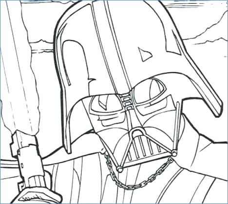 468x419 Star Wars Coloring Pages Darth Vader