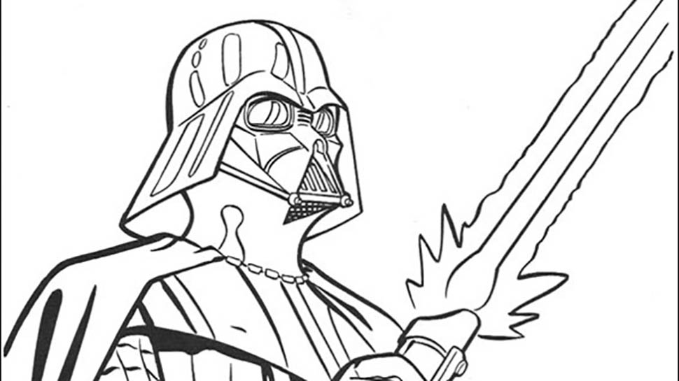 970x545 Star Wars Coloring Pages Darth Vader War Armor Of Darth Vader