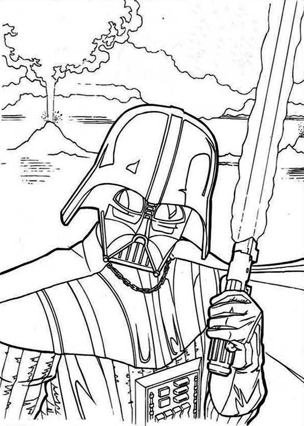 600x840 The Evil Darth Vader In Star Wars Coloring Page