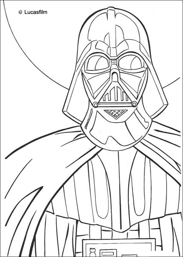 607x850 Darth Vader Coloring Pages Star Wars Online Coloring Sheets