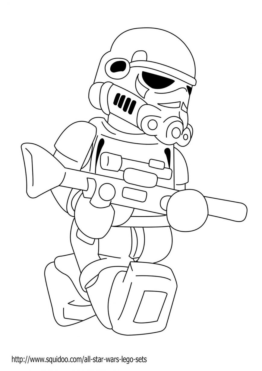 869x1229 Lego Battle Droid Coloring Page Free Printable Pages For Star Wars