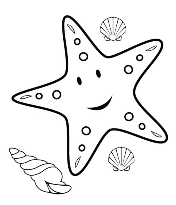 600x699 Star Coloring Pages Printable Coloring Page Starfish Coloring