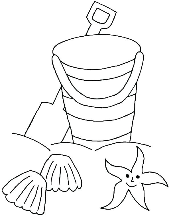 600x757 Star Coloring Pages Printable Sea Star Coloring Page Beach Bucket