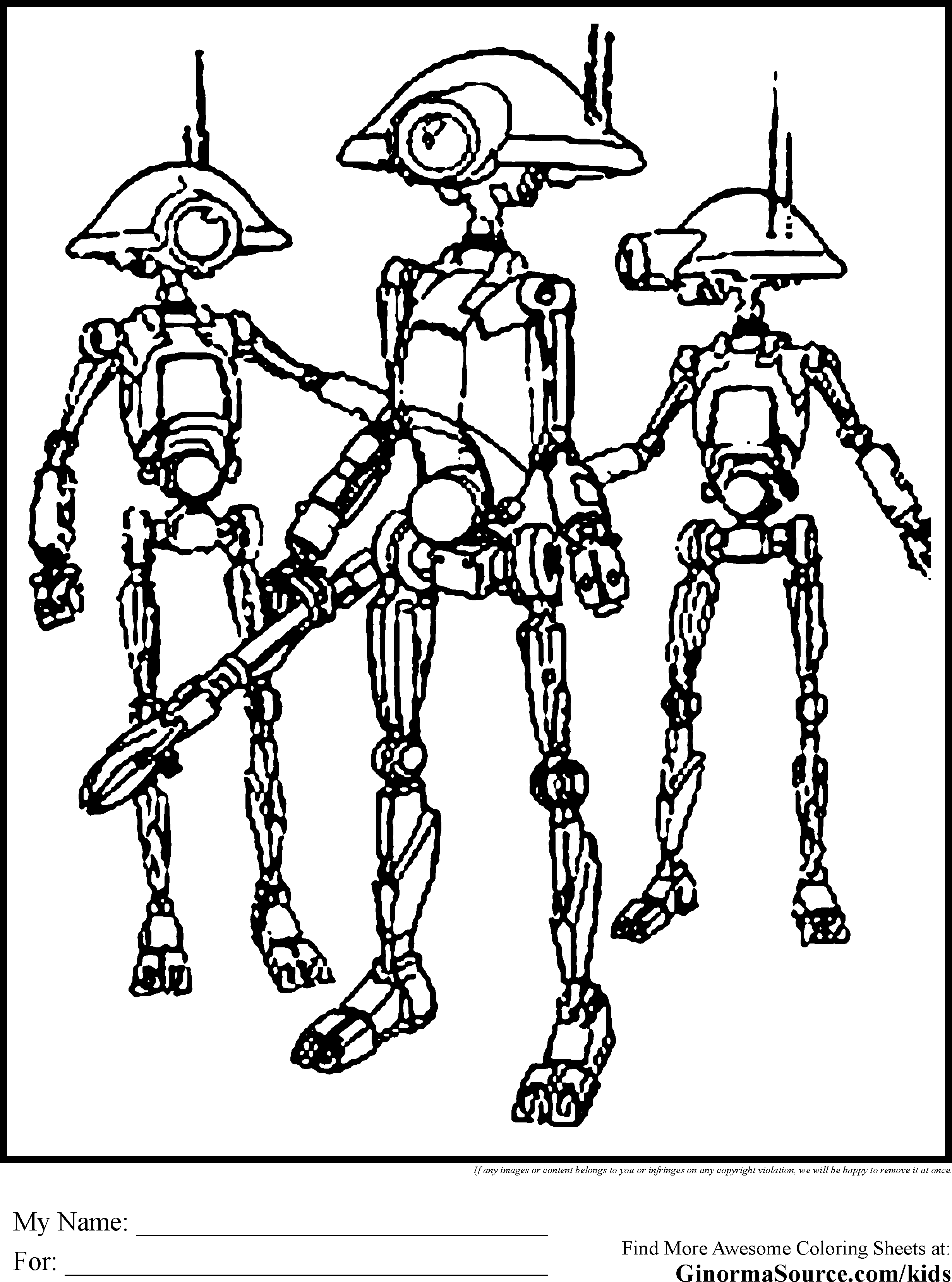 2459x3310 Star Wars Droid Coloring Page