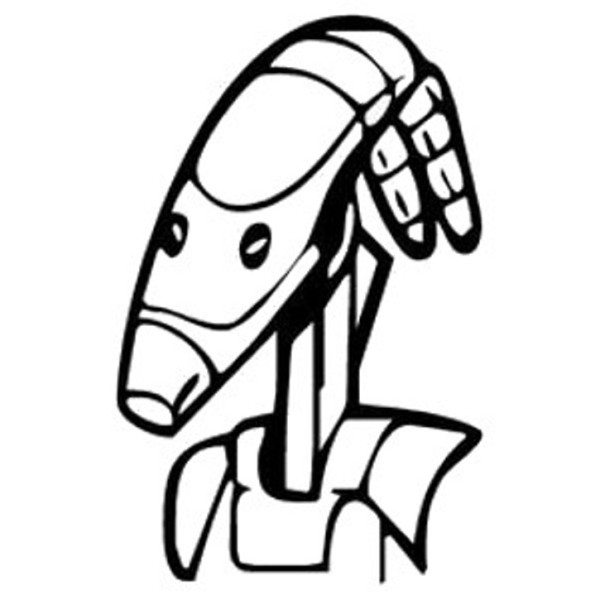 600x600 Battle Droid Head Star Wars Coloring Pages