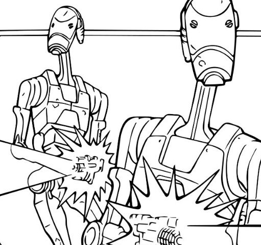 511x479 Star Wars Rex Coloring Page